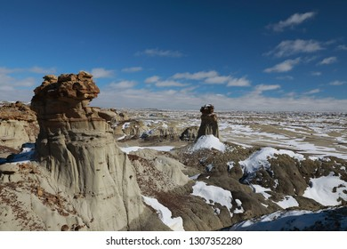 Ah-Shi-Sle-Pah Wilderness Study Area in winter ,New Mexico,USA