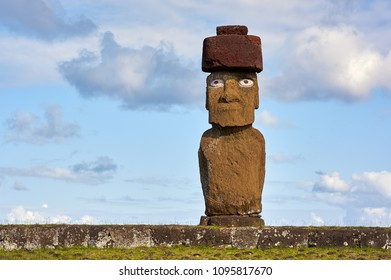 Ahu Tahai Ceremonial Complex.Rapa Nui National Park,  Easter Island, Chile.  UNESCO World Heritage Site