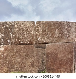 Ahu Vinapu. Inca style wall at Rapa Nui National Park,  Easter Island, Chile.  UNESCO World Heritage Site