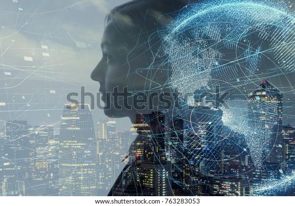 Le concept d'intelligence artificielle.