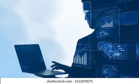 AI (Artificial Intelligence) concept. Communication network. - Shutterstock ID 1511870075