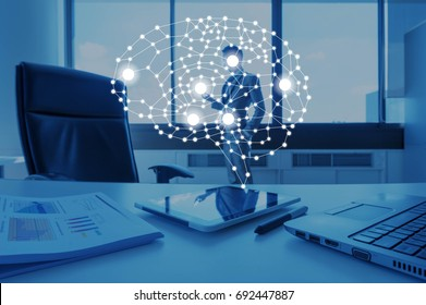 AI conceptual in business technology, artificial intelligent concept