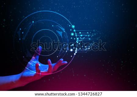 Ai Global Network Technology Hologram Light Stock Photo