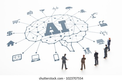 AI(Artificial Intelligence) and business concept.