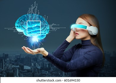 AI(Artificial Intelligence) concept, 3D rendering, abstract image visual