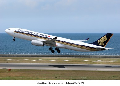 Aichi, Japan - May 06, 2010:Singapore Airlines Airbus A330-300 (9V-STJ) passenger plane.