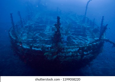 Aida shipwreck in the deep in Egypt