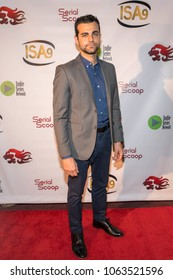 Aidan Bristow attends 9th Annual Indie Series Awards at The Colony Theatre, Burbank, CA on April 5th, 2018