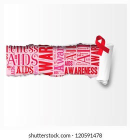 Aids Awareness in the rear paper
