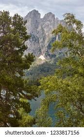 Aigues tortes national park forest landscape. Sant Maurici. Spain