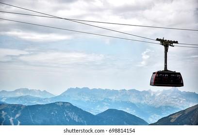The Aiguille du Midi cable car, Chamonix, France