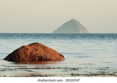 Ailsa Craig Island from Kildonan on the Isle of Arran