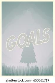 Aim High Goals Graphic