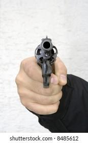 Aimed gun in you face