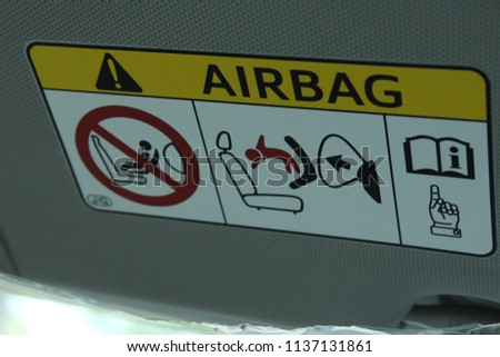 Air Bag Notice Toyota Corolla Car Stock Photo Edit Now 1137131861