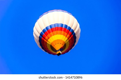 Air balloon basket in blue sky. Air balloon basket sky. Blu sky air balloon basket. Air balloon basket in sky