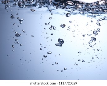 air bubbles in water