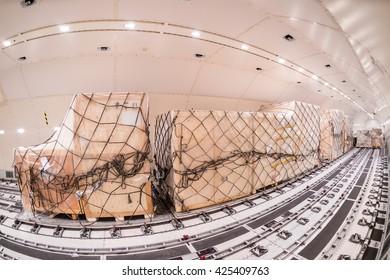 air cargo freighter, Inside cargo freighter