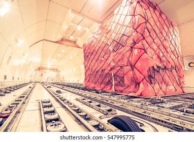 air cargo freighter - retro vintage filter effect