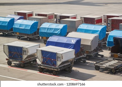 Air cargo unit load devices and luggage trolleys