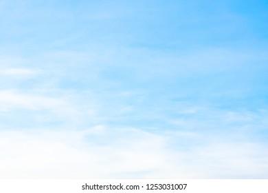 Air clouds in the blue sky.