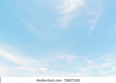 Air clouds in the blue sky.