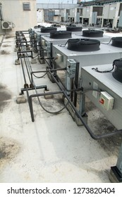 the Air compressor on the Building