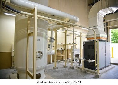 Air Compressor System with Equipment machine and piping in the factory