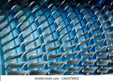 Air compressor turbine blades of an airplane turbojet jet engine I