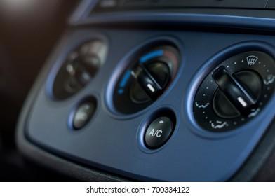 air condition button inside a car