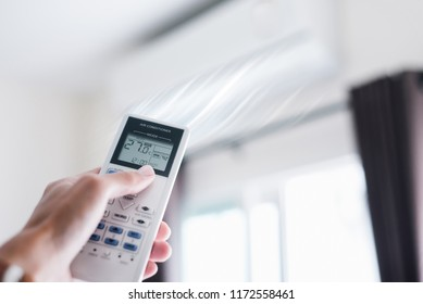 Air condition control by using remote control.