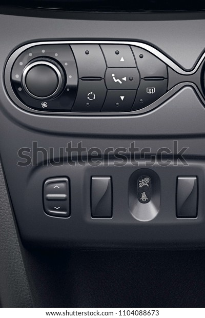 air conditioner black background in new car modern