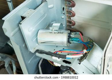 Air conditioner capacitor, Checking air compressor capacitor, Home appliances repair service.