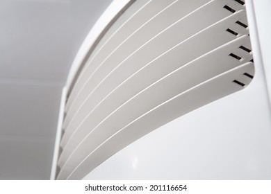 air conditioner closeup background. shallow depth of field