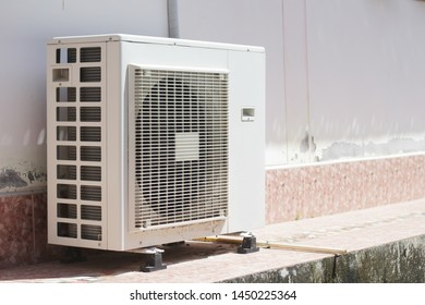Air conditioner compressor outside unit.