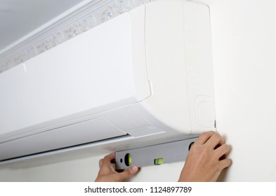 Air conditioner installation and measuring indoors unit