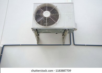 air conditioner outdoor unit or heat Pump Compressor or Condenser Fan for support Air Conditioner in home or house.