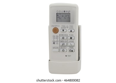 air conditioner remote control isolated on white.Clipping path.