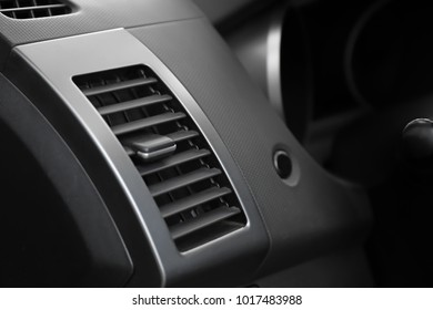 Air conditioner system in modern car, closeup