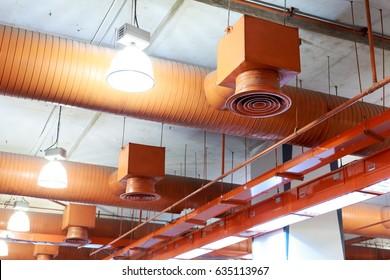 Air conditioner ventilation installation system in building