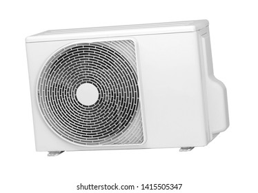 air conditioners installation on a white background isolated