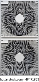 Air conditioners, outdoor unit, fans of outdoor units system