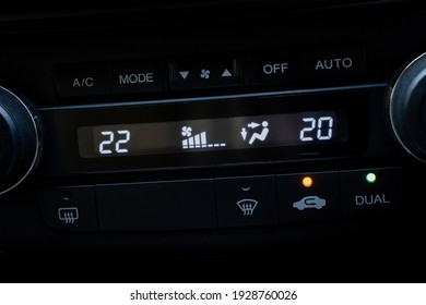 air conditioning  control panel in car on Screen air conditioning on off