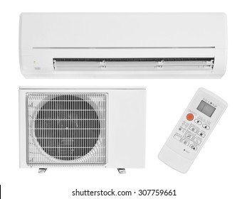 air conditioning isolated on white
