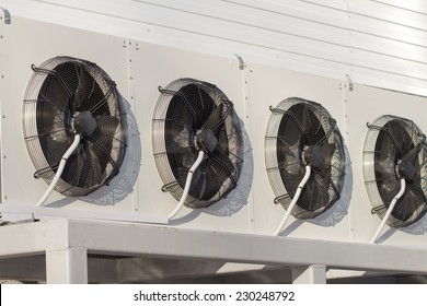 air conditioning on the white background