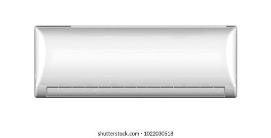 air conditioning system on white background, isolated