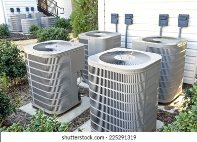 Air Conditioning Units In Apartment Complex