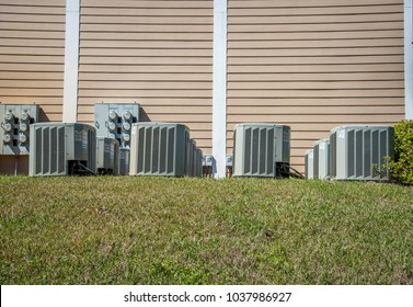 Air conditioning units outdoors