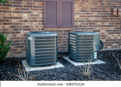 Air Conditioning units outside apartment complex