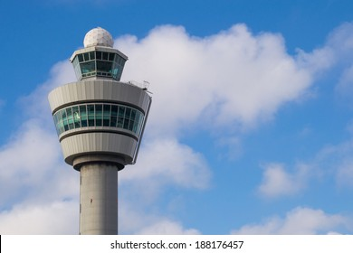 Air control tower in the Netherland's morning light.